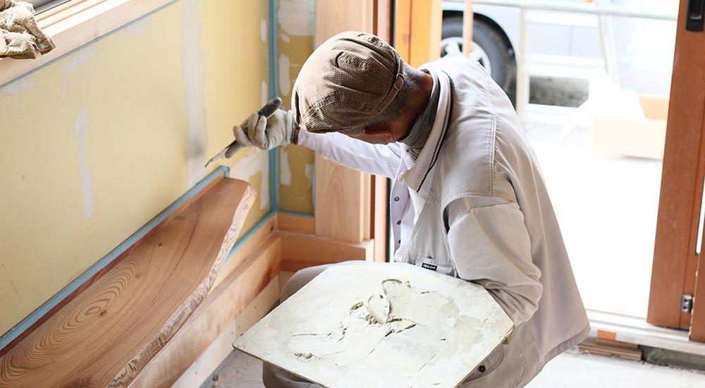 漆喰は日本の気候風土に適した調湿材です。