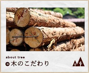 木のこだわり